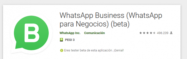 WhatsApp Business para Android Beta