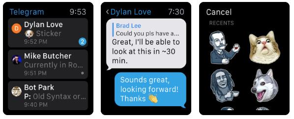 Telegram en el Apple Watch