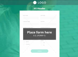 Landing page creada con Mautic