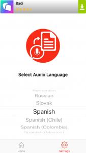 Seleccionar idioma en Audio to Text para convertir notas de voz y audios de WhatsApp en texto