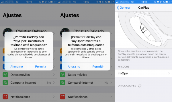 Instalación de CarPlay en el iPhone