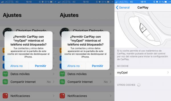 Instalación de CarPlay en el iPhone