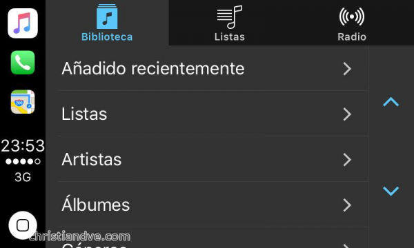 CarPlay y la app de Música