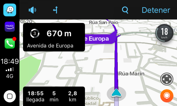 Waze en Apple CarPlay