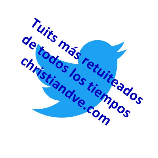 Tuits/tweets más retuiteados de todos los tiempos (con más retweets)