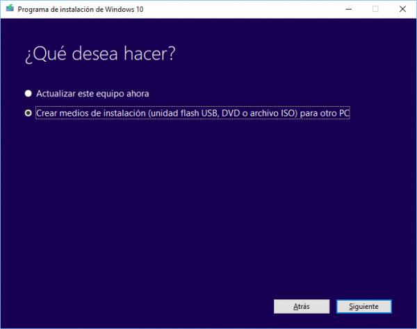 Cómo descargar y crear el disco de instalación de Windows 10