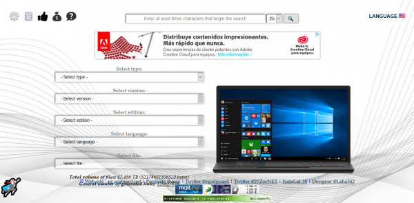 Teckbench: descarga de ISO de Windows y Office