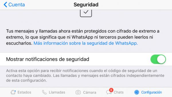 Activa el cifrado extremo a extremo de WhatsApp