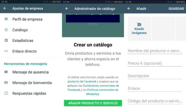 Cómo crear un catálogo de productos en WhatsApp Business para terminales con Android