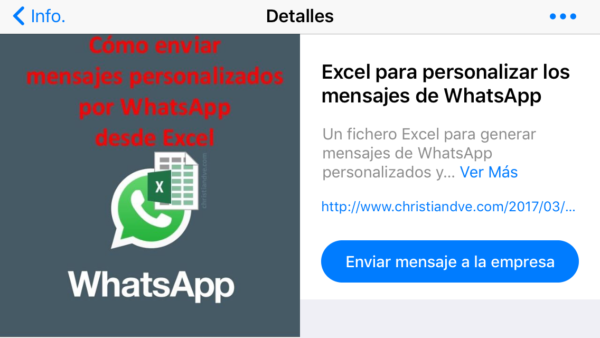 Ficha del producto en el catálogo de WhatsApp en la ficha de la empresa en WhatsApp Business