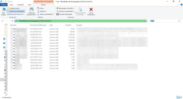 Recuperar ficheros no guardados de Word buscando la extensión asd