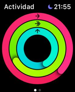 Actividad en el Apple Watch