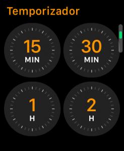 Cuenta atrás en el Apple Watch
