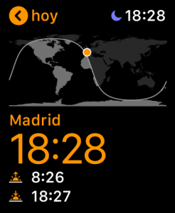 Hora mundial en el Apple Watch