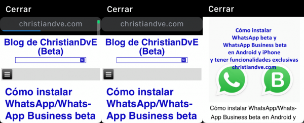 Ver página web en el Apple Watch