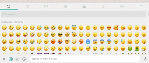 Emojis y emoticonos en WhatsApp web y la app de WhatsApp para Windows y macOS