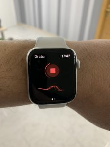 Just Press Record en el Apple Watch