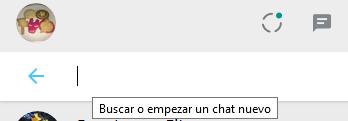 Cómo buscar en WhatsApp con teclas