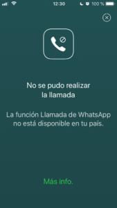 OMS y WhatsApp: no deja realizar llamadas o videollamadas