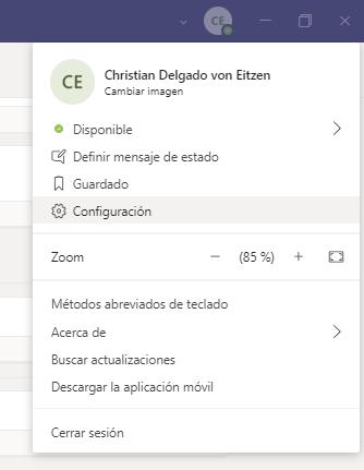 Configuración de Microsoft Teams