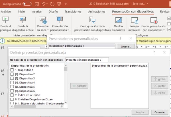 Presentación personalizada de PowerPoint