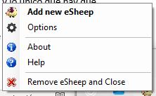 Configuración de eSheep