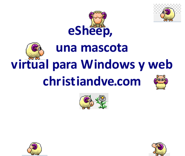 eSheep una mascota virtual gratis que te acompaña en Windows