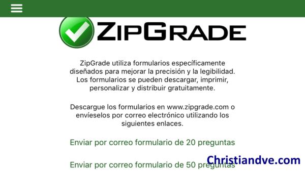 ZipGrade para corregir exámenes tipo test con el móvil