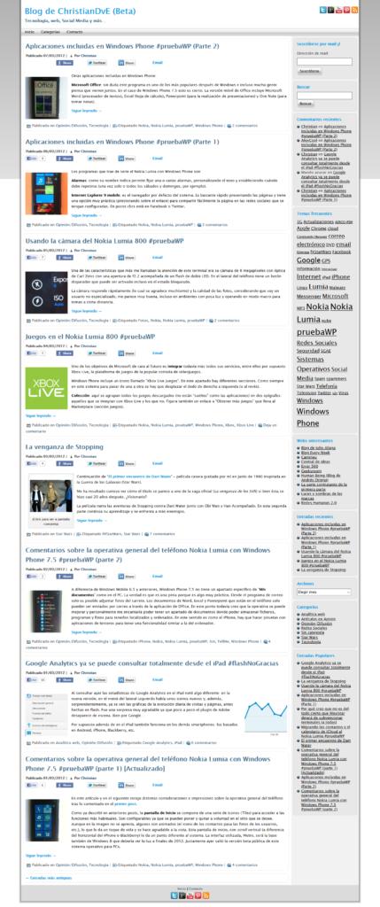 El blog christiandve en 2012
