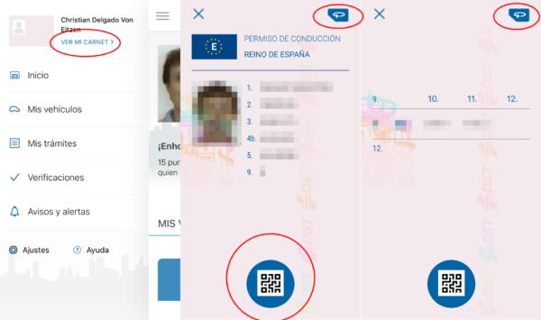 Carnet de conducir en el móvil con validez legal en España